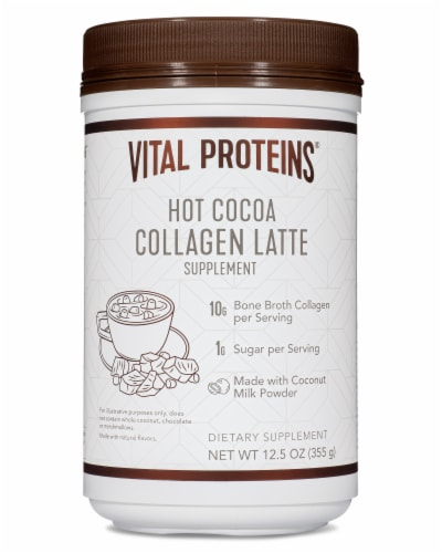 Vital Proteins Hot Cocoa Collagen Latte Supplement Perspective: front
