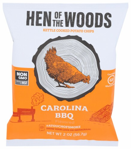 Case 2oz 20ct Carolina BBQ Kettle Chips Perspective: front