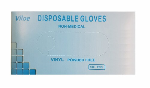 Viloe Small Vinyl Gloves 100 Count Perspective: front