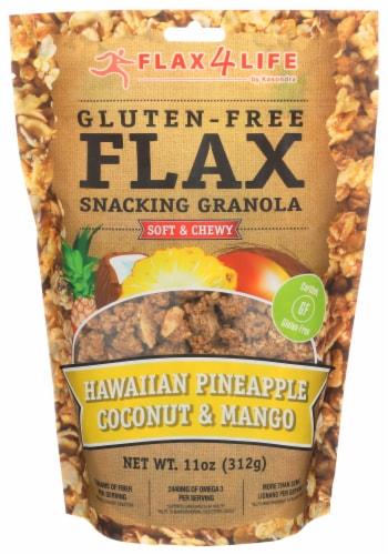 Flax 4 Life Hawaiian Pineapple Coconut & Mango Snacking Granola Perspective: front