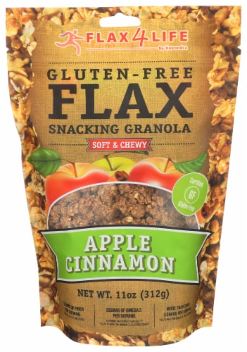 Flax 4 Life Apple Cinnamon Snacking Granola Perspective: front