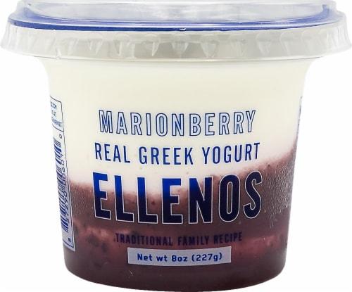Ellenos Marionberry Real Greek Yogurt Perspective: front