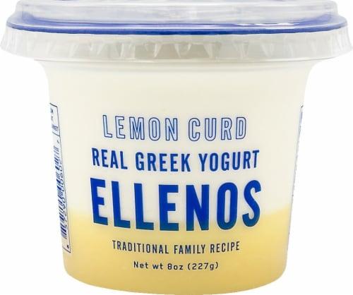 Ellenos Lemon Curd Real Greek Yogurt Perspective: front