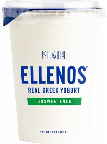 Ellenos Plain Unsweetened Real Greek Yogurt Perspective: front