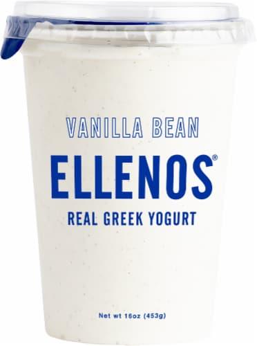 Ellenos Vanilla Bean Real Greek Yogurt Perspective: front