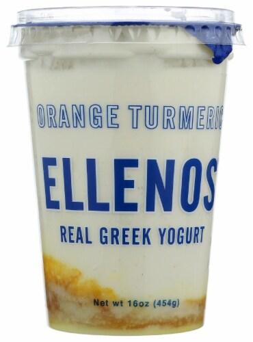 Ellenos Orange Turmeric Real Greek Yogurt Perspective: front