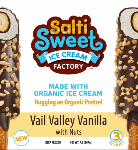 SaltiSweet Vail Valley Vanilla With Nuts Ice Cream Bar Perspective: front