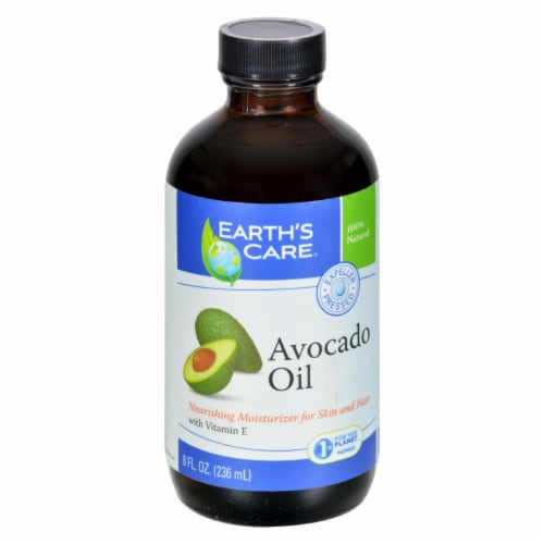 Earth's Care 100% Pure and Natural Avocado Oil - 8 fl oz Perspective: front