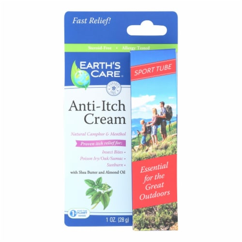 Earth's Care - Anit-itch Cream - 1 Each - 1 OZ - Pack of 3 Perspective: front