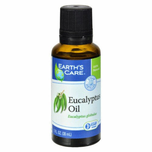 Earth's Care Essential Oil - 100 Percent Pure - Natr - Eucalyptus - 1 fl oz - Pack of 3 Perspective: front