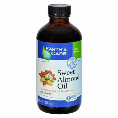 Earth's Care 100% Pure Sweet Almond Oil - 8 fl oz - Pack of 3 Perspective: front