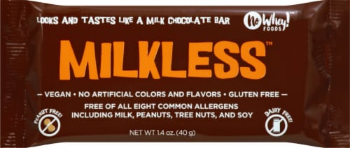 No Whey Foods Vegan & Gluten Free Milkless Chocolate Bar Perspective: front