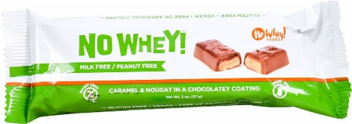No Whey Foods Caramel & Nougat Chocolatey Bar Perspective: front