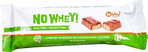 No Whey Foods Vegan & Gluten Free Caramel & Nougat Chocolatey Bar Perspective: front