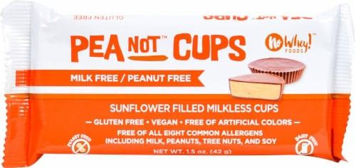 No Whey Foods Vegan Peanot Cups Perspective: front