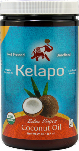 Kelapo Extra Virgin Coconut Oil Perspective: front