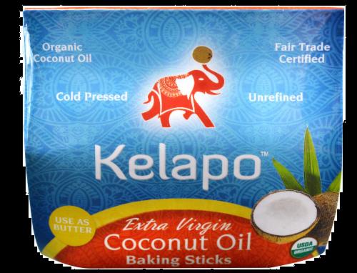 Kelapo Extra Virgin Coconut Oil Baking Sticks Perspective: front