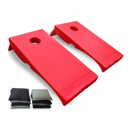 Driveway Games All Weather Outdoor Corntoss Cornhole Bean Bag Toss Game, Red Perspective: front