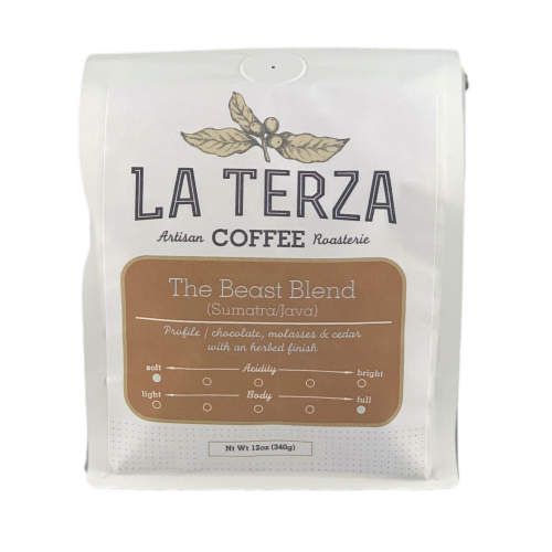La Terza The Beast Ground Coffee Perspective: front
