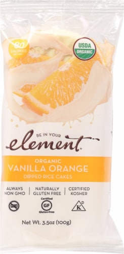 Element Vanilla Orange Rice Cake Perspective: front