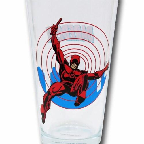 Dare Devil glasspintddclr Dare Devil Daredevil Clear Pint Glass Perspective: front