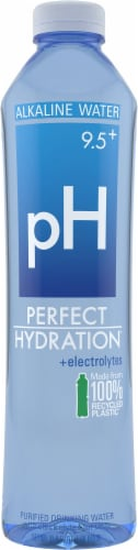 Perfect Hydration 9.5+ pH Alkaline Water Perspective: front