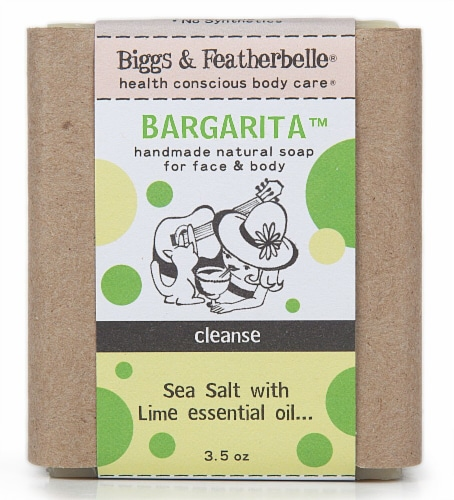 Biggs & Featherbelle Bargarita Natural Bar Soap Sea Salt with Lime Perspective: front