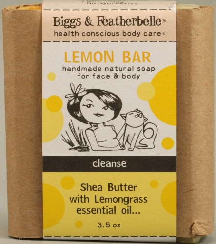 Biggs & Featherbelle Lemon Bar Shea Butter with Lemongrass Perspective: front