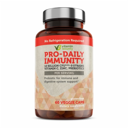 Vitamin Bounty Pro-Daily Immunity Probiotic Capsules Perspective: front