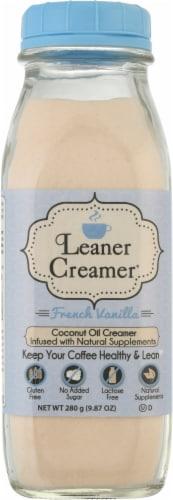 Leaner Creamer French Vanilla Coconut Oil Creamer Perspective: front