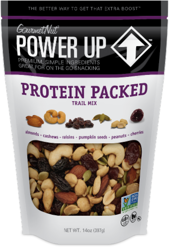 Gourmet Nut Power Up Protein Packed Trail Mix Perspective: front