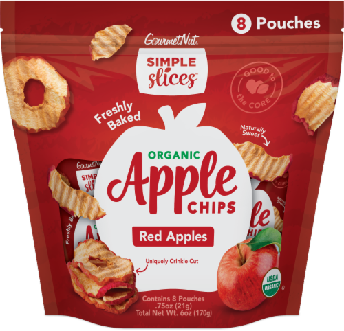 Gourmet Nut® Simple Slices™ Organic Red Apple Chips Multipack Perspective: front