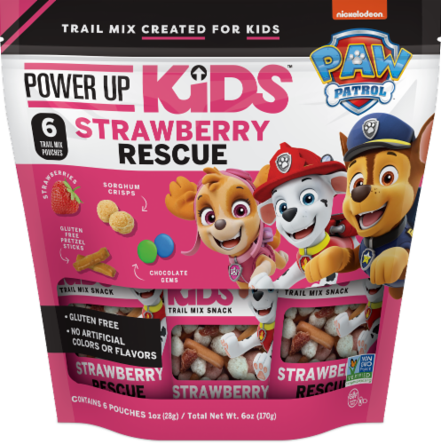 Paw Patrol Strawberry Rescue Trail Mix Snacks Perspective: front