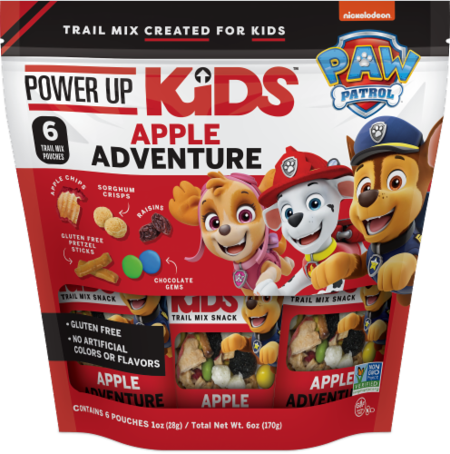 Paw Patrol Apple Adventure Trail Mix Snacks Perspective: front