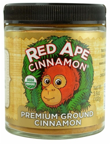 Red Ape Cinnamon  Organic Premium Ground   Cinnamon Perspective: front