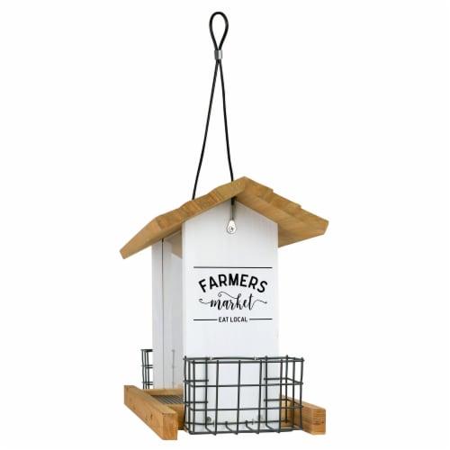 Wild Wings Cedar Farmhouse Hopper Bird Feeder Perspective: front