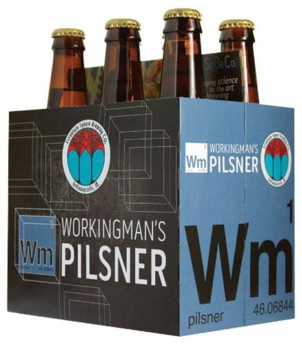 Fountain Square Workingman's Pilsner Perspective: front