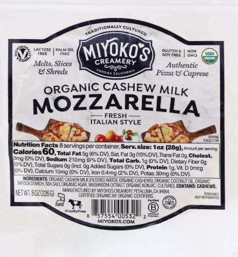 Miyoko's Creamery Fresh Vegan Mozzarela Perspective: front