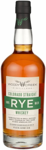 Woody Creek Colorado Straight Rye Whiskey Perspective: front