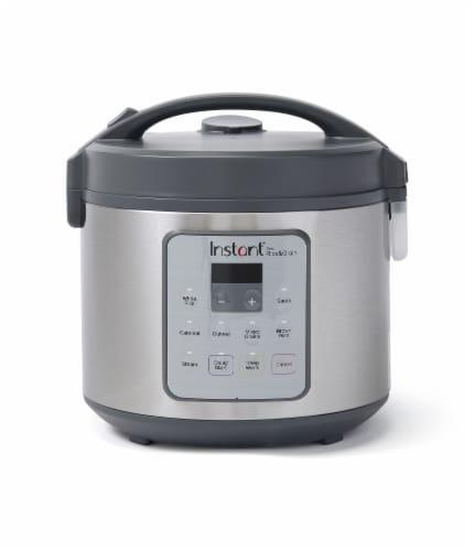 Instant Pot® Instant Zest Rice & Grain Pressure Cooker - Silver/Black Perspective: front