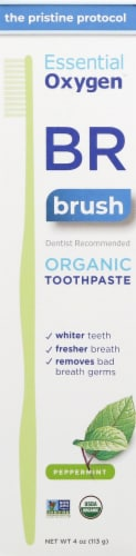 Essential Oxygen BR Organic Fresh Mint Toothpaste Perspective: front