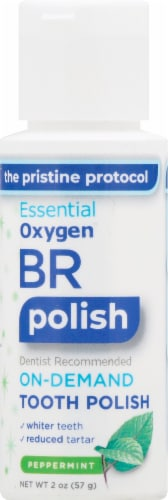 Essential Oxygen BR Fresh Mint Tooth Polish Perspective: front