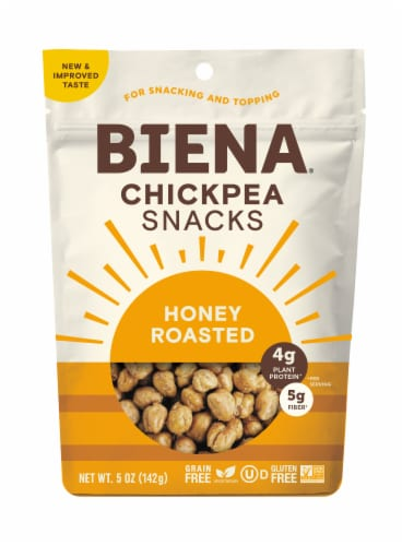 Biena Honey Roasted Chickpea Snacks Perspective: front