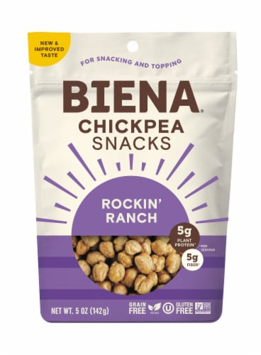 Biena Rockin' Ranch Chickpea Snacks Perspective: front