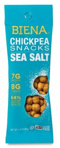 Biena  Chickpea Snacks 1.2 oz   Sea Salt Perspective: front