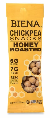 Biena  Chickpea Snacks   Honey Roasted Perspective: front