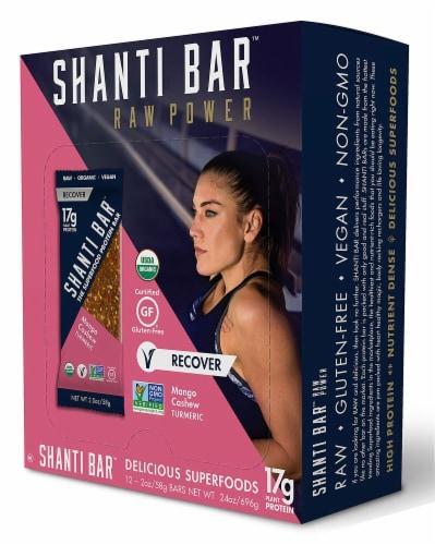 Shanti Bar  Organic 17 G Protein Bar Gluten Free   Mango Cashew Turmeric Perspective: front