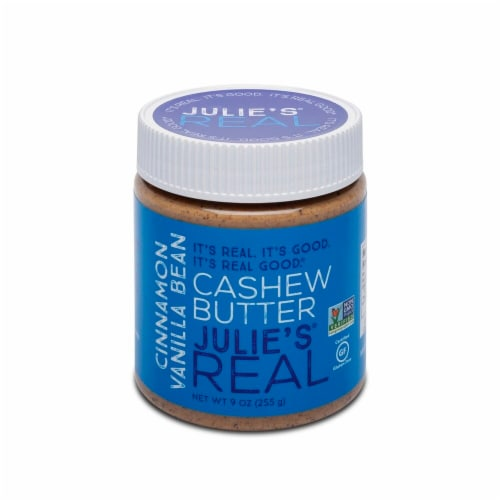 Julie's Real Cinnamon Vanilla Bean Cashew Butter Perspective: front