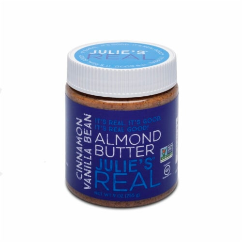 Julie's Real Cinnamon Vanilla Bean Almond Butter Perspective: front