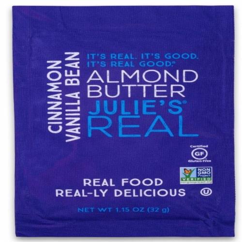 Julie's Real Cinnamon Vanilla Bean Almond Butter Perspective: front